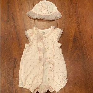 Baby girl light pink matching set size 0-3 month